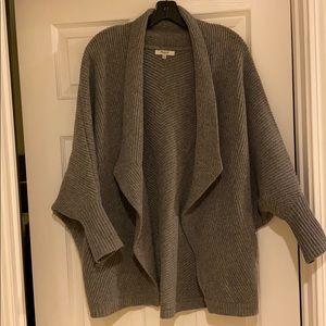Madewell Gray Sculptor Cardigan Sweater cardigan